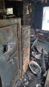 Exterior of Safe after Fire
