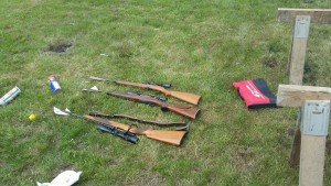 Guns from safe with minimal damage
